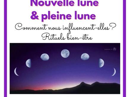 Nouvelle  lune et pleine lune: comment nous influencent-elles? Rituels bien-être