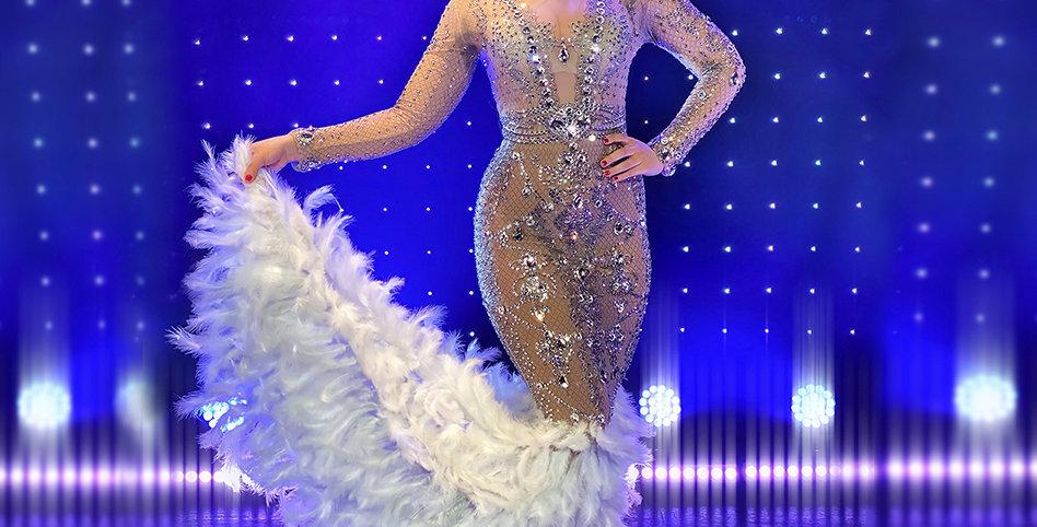 Diamantové šaty Queen Nicole