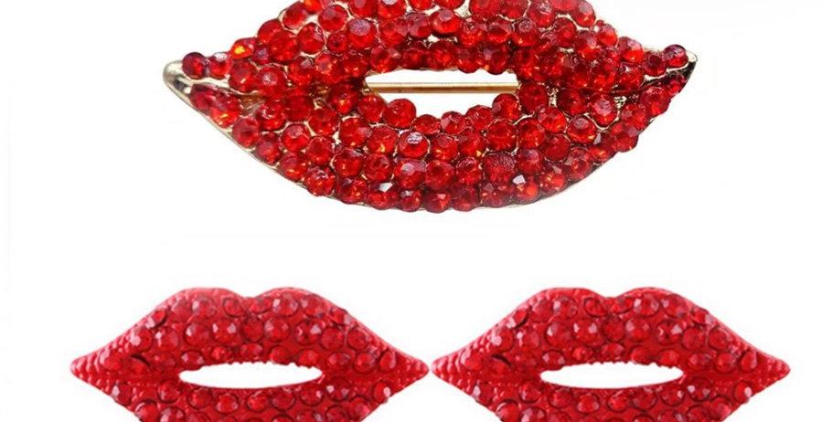 """Naušnice & Brož ,,Kiss"""""""