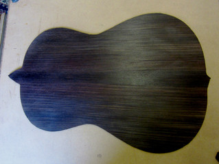 Planing a rosewood back to thickness