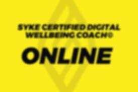 Digital wellbeing coach - ONLINE