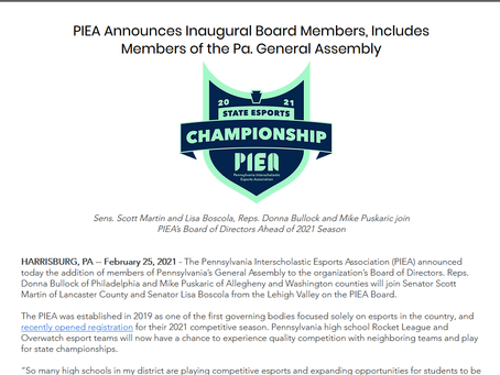 Pa. Senators, state Reps. join the PIEA Board of Directors ...