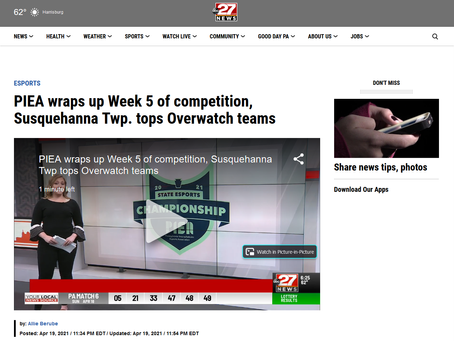 abc27 news features PIEA action in weekly league recap