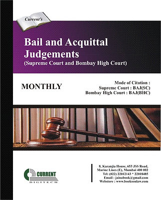 Bail and Acquittal Judgements - Supreme Court and Bombay High Court