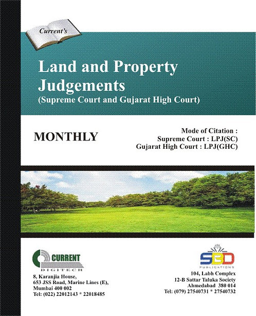 Land and Property Judgements - Supreme Court and Gujarat High Court