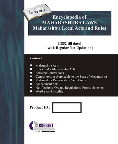 Encyclopedia of Maharashtra Laws [Maharashtra Local Acts and Rules]