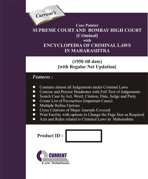 Case Pointer Supreme Court and Bombay High Court (Criminal)