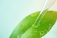 water drop from leaf and laboratory for