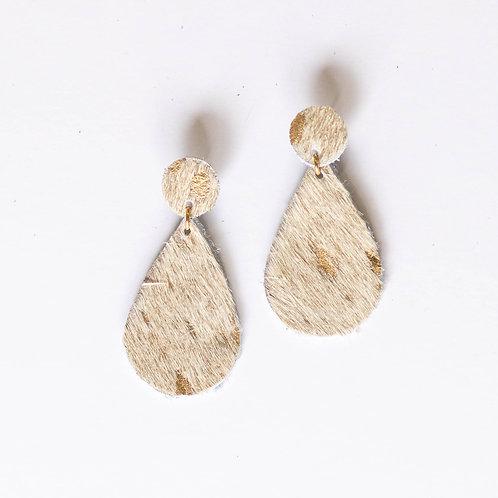 Gold Speckle Teardrop (Hair On) Wholesale
