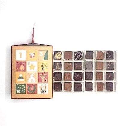 Calendrier de l' Avent - chocolat noir et au lait et un bracelet