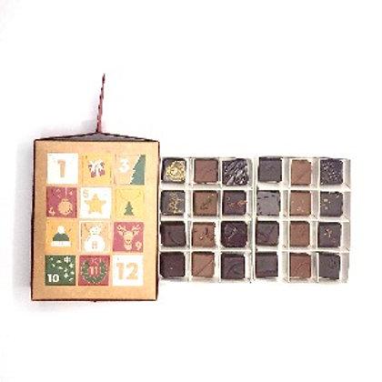 Calendrier de l' Avent - chocolat noir et au lait