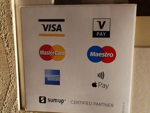 当店はカードでお支払いいただけます!