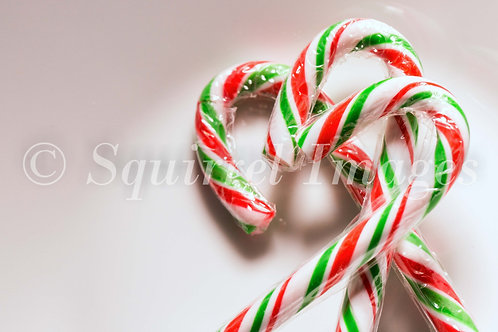 Christmas candy canes - Greetings Card