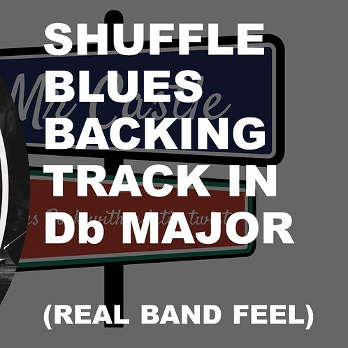 Blues Shuffle Backing Track in Db (Real Band Feel)