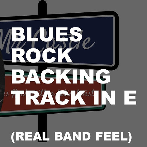 Blues Rock Backing Track in E