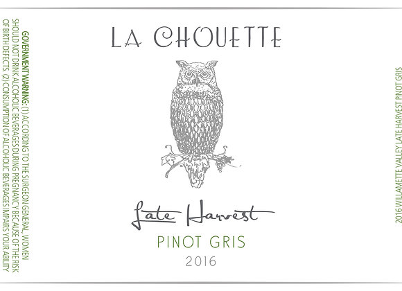 Late Harvest Pinot Gris 2016