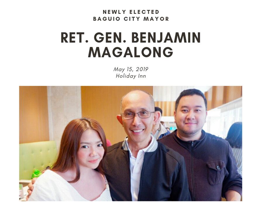 Baguio's New Mayor Ret. Gen. Benjamin Magalong.
