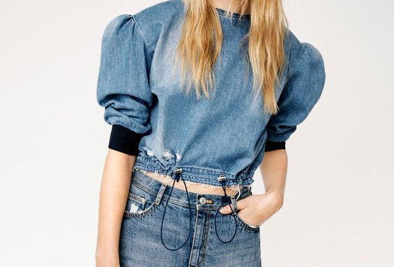 Princess Denim Top