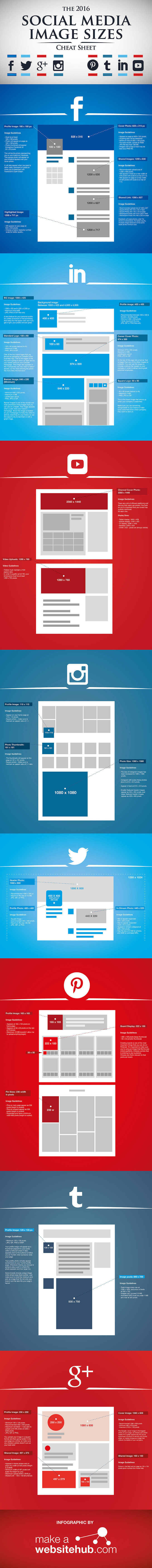 The 2016 Social Media Image Size Cheat Sheet!
