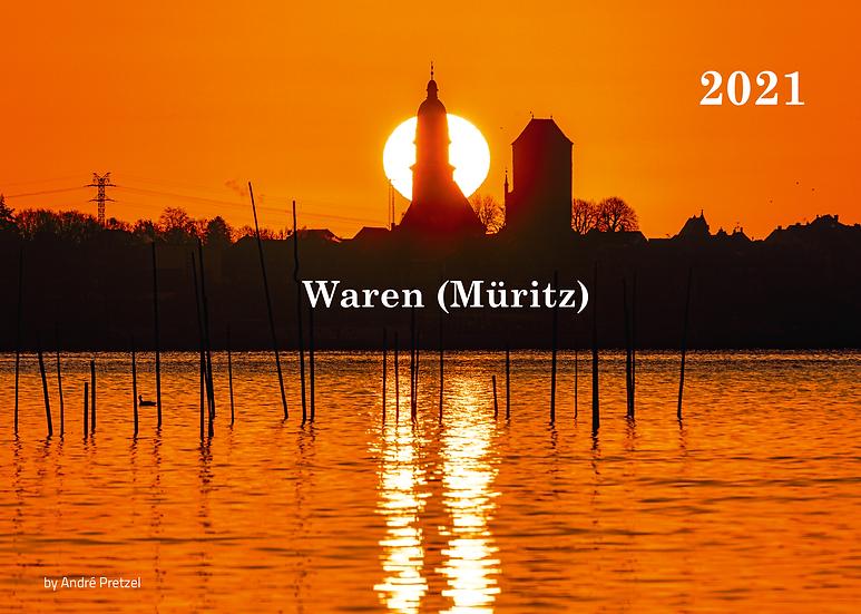 Kalender 2021 Waren (Müritz)                                        mit Planer