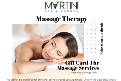 1 hr Massage Therapy