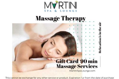 90 min Massage Therapy