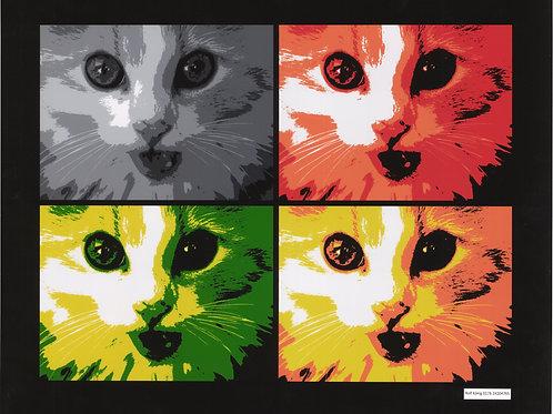 PopArt Poster Katze