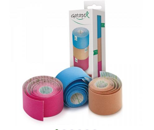 3er Set Kinesiology-Tape pink, hellblau und hautfarbe 3 Rollen á 2m x 5cm