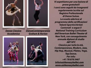 Tantissime novità per iniziare un nuovo anno accademico pieno di tanta bella danza e ospiti internaz