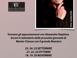 Pimo Incontro dell'Anno Accademico con il Maestro Alexandre Stepkine!