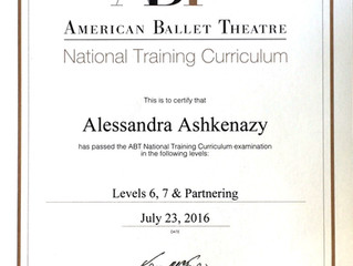 Alessandra Ashkenazy ottiene la massima qualifica ABT NTC