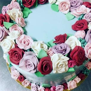 gateau cake design flowers