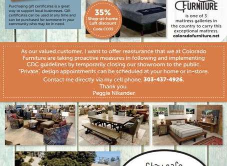 Colorado Furniture Meeting our Customers Needs!