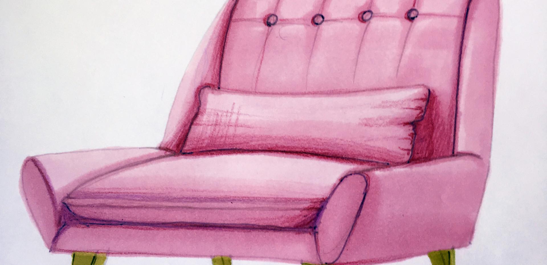 Pink armchair 2