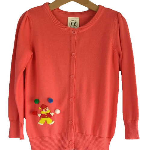Little Ladies Clown Cardigan
