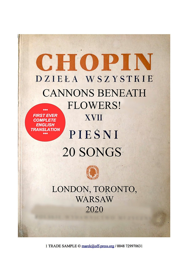 CHOPIN SONGS_Cannons Beneath Flowers_SAM