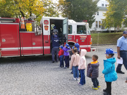 Getting on the Fire Truck
