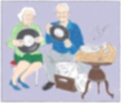 Samen luisteren naar muziek van vroeger met mensen met dementie