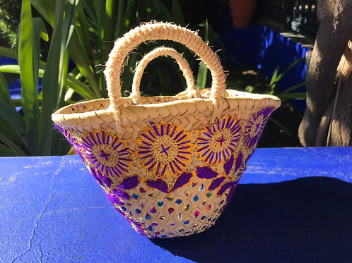Mini Purple Geometric Basket