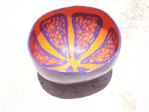 Purple Lemon Calabash Bowl