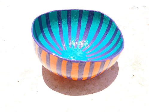 Stripe Calabash Bowl