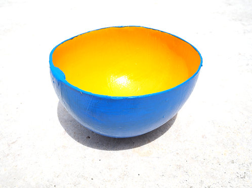 Blue / Yellow Calabash Bowl