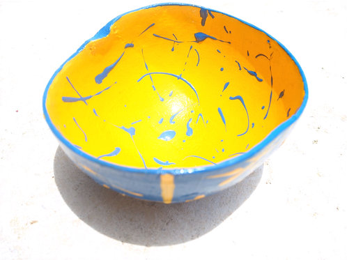 Splatter Calabash Bowl