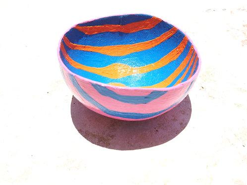 Fuchsia Zebra Calabash Bowl