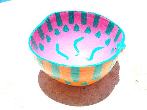 Deco Calabash Bowl