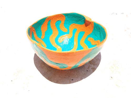 Coral Calabash Bowl