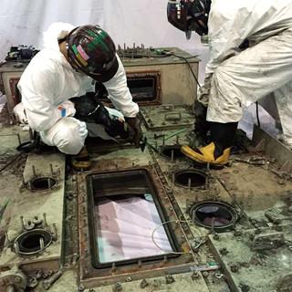 低濃度PCB含有機器解体積込工事