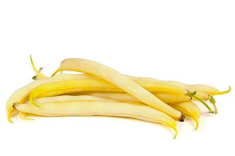 Yellow beans isolated on white backgroun
