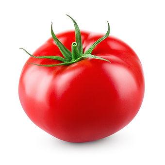Tomato isolated on white background. Wit