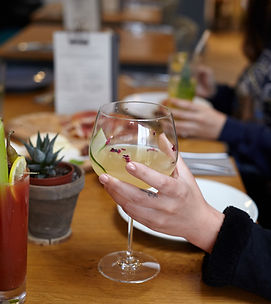 Drinks at Ten Hands Cafe